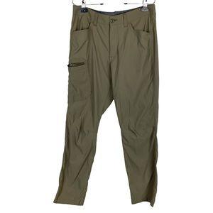 Eddie Bauer Men's Olive Cargo Hiking Pants 32x32